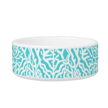 Beach Themed Beach Coral Reef Pattern Nautical White Blue Bowl