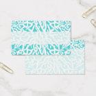 Beach Coral Reef Pattern Nautical White Blue Business Card
