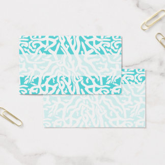 Beach Coral Reef Pattern Nautical White Blue Business Card