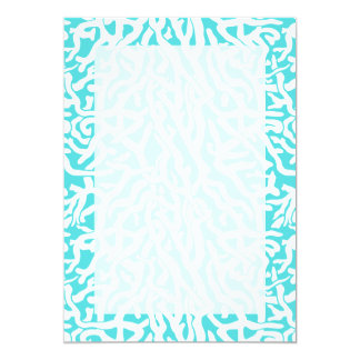 Beach Coral Reef Pattern Nautical White Blue Card