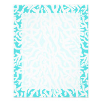 Beach Coral Reef Pattern Nautical White Blue Flyer