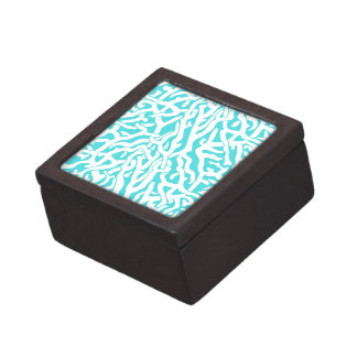 Beach Coral Reef Pattern Nautical White Blue Gift Box