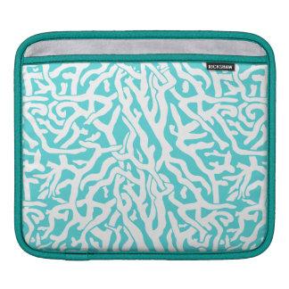 Beach Coral Reef Pattern Nautical White Blue iPad Sleeves