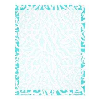 Beach Coral Reef Pattern Nautical White Blue Letterhead