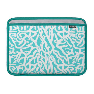 Beach Coral Reef Pattern Nautical White Blue MacBook Sleeve