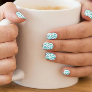 Beach Coral Reef Pattern Nautical White Blue Minx® Nail Art