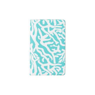 Beach Coral Reef Pattern Nautical White Blue Pocket Moleskine Notebook
