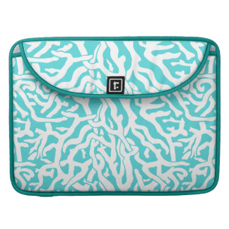 Beach Coral Reef Pattern Nautical White Blue Sleeve For MacBook Pro