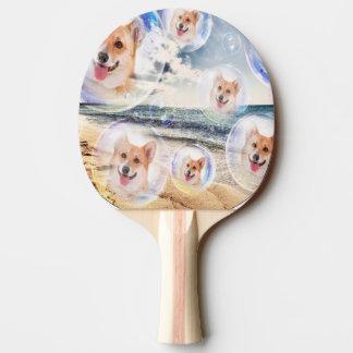 Beach Corgis Ping-Pong Paddle