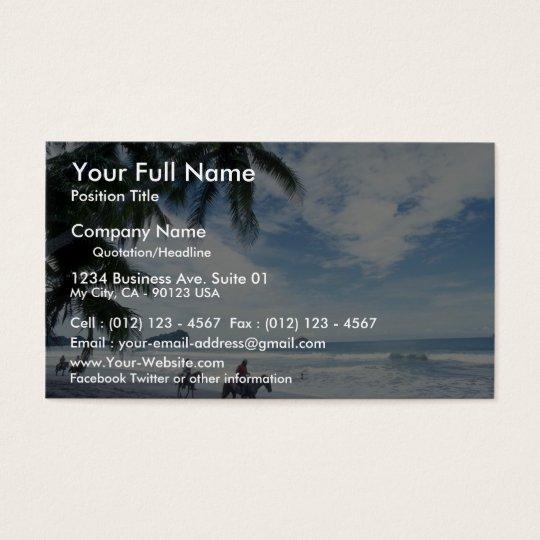 Beach, Costa Rica Business Card