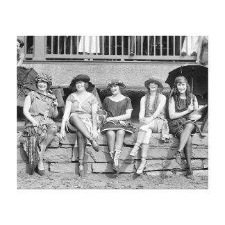 Beach Costume Contest, 1921 Canvas Print