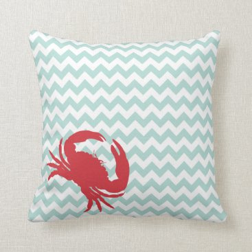 Beach Themed Beach Cottage Crabby Chic Accent Pillow