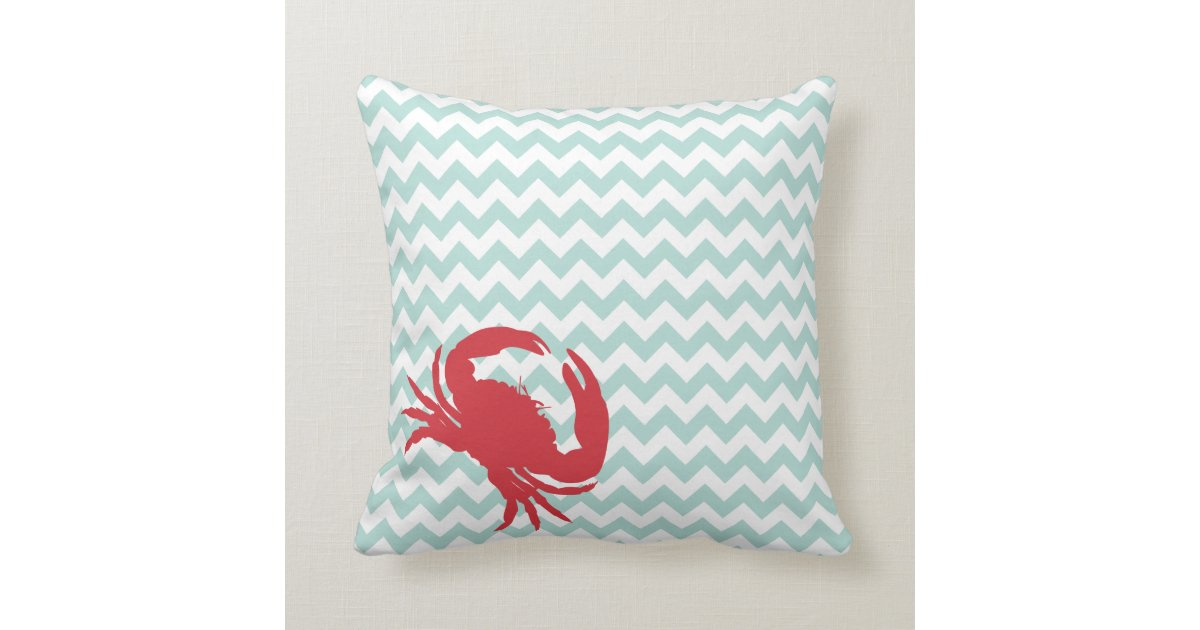 Beach Cottage Throw Pillows : Beach Cottage Crabby Chic Accent Pillow Zazzle