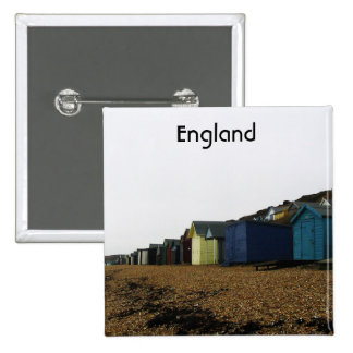 Beach Cottages in Southern England Pinback Buttons