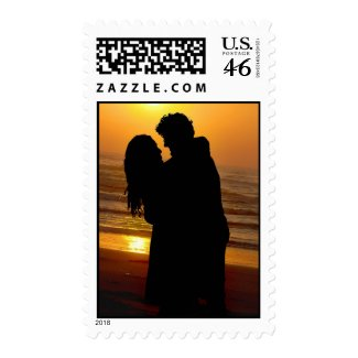 create your own beach postage stamp