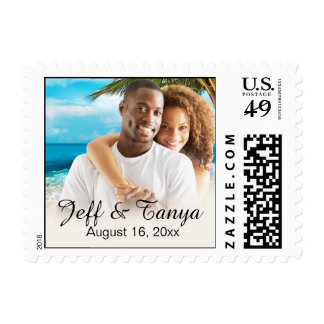 Beach Couple Photo ASK ME TO PHOTOCHOP YOUR PIC Postage Stamp