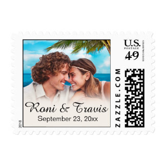 Beach Couple Photo ASK ME TO PHOTOCHOP YOUR PIC Stamp