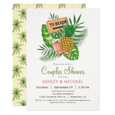 Beach Themed Beach Couples Shower Invitation