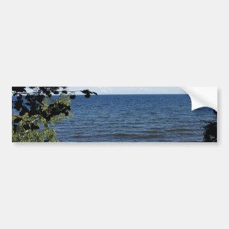 Beach cove bumper sticker