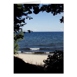 Beach cove card