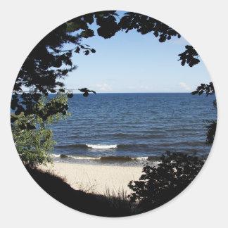 Beach cove classic round sticker