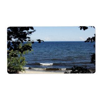 Beach cove label
