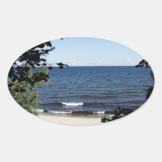 Beach cove oval sticker