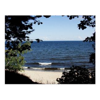 Beach cove postcard