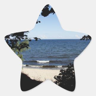 Beach cove star sticker
