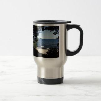 Beach cove travel mug