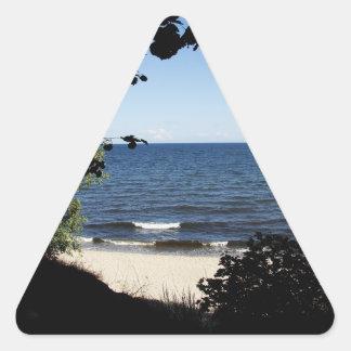 Beach cove triangle sticker