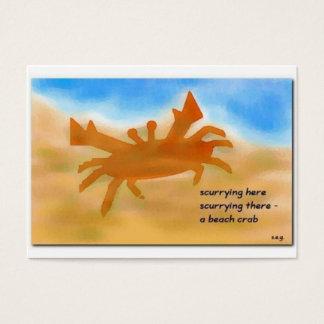 Beach Crab Haiku Art ACEO Trading Card #1