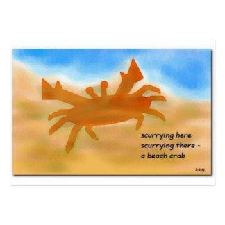 Beach Crab Haiku Art ACEO Trading Card #1 Business Card Templates