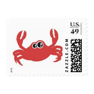 Beach Crab Postage Stamp