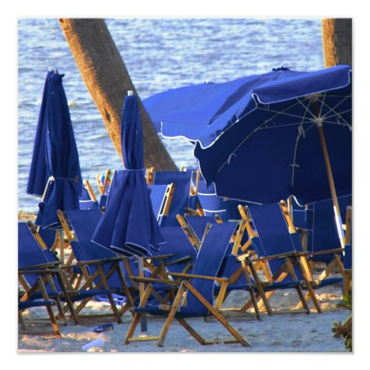 Beach Crowd by Leslie Peppers Photo Print
