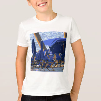 Beach Crowd by Leslie Peppers T-Shirt