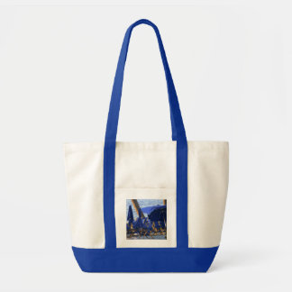 Beach Crowd by Leslie Peppers Tote Bag
