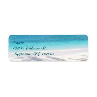 Beach custom return address labels