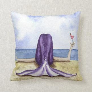Beach Daiquiri Mermaid Pillowi Throw Pillow