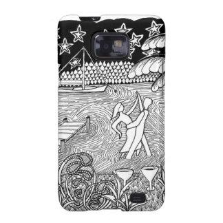 Beach Dancing Zentangle Style Galaxy S2 Covers