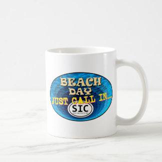 BEACH DAY CALL IN SIC2 CLASSIC WHITE COFFEE MUG