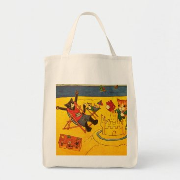 Beach Themed Beach Day Cats Tote Bag