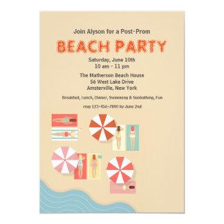 Beach Day Party Invitation