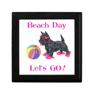 Beach Day Scottie Dog Keepsake Boxes
