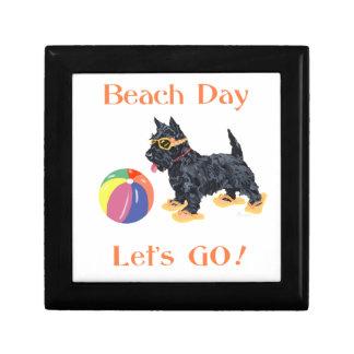 Beach Day Scottie Dog Jewelry Boxes