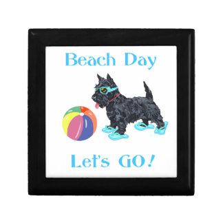 Beach Day Scottie Dog Trinket Box