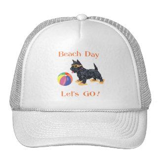 Beach Day Scottie Dog Trucker Hat