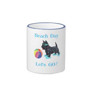 Beach Day Scottie Dog Coffee Mug