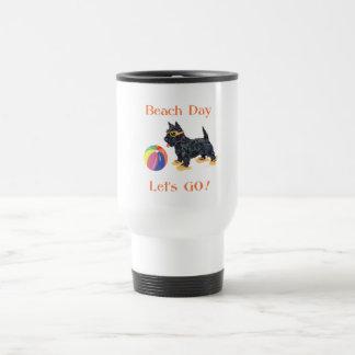 Beach Day Scottie Dog Coffee Mugs