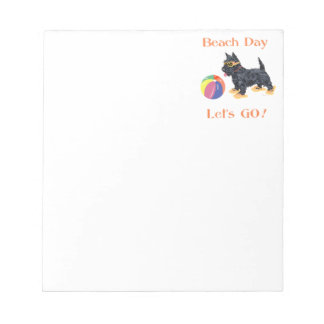 Beach Day Scottie Dog Note Pads